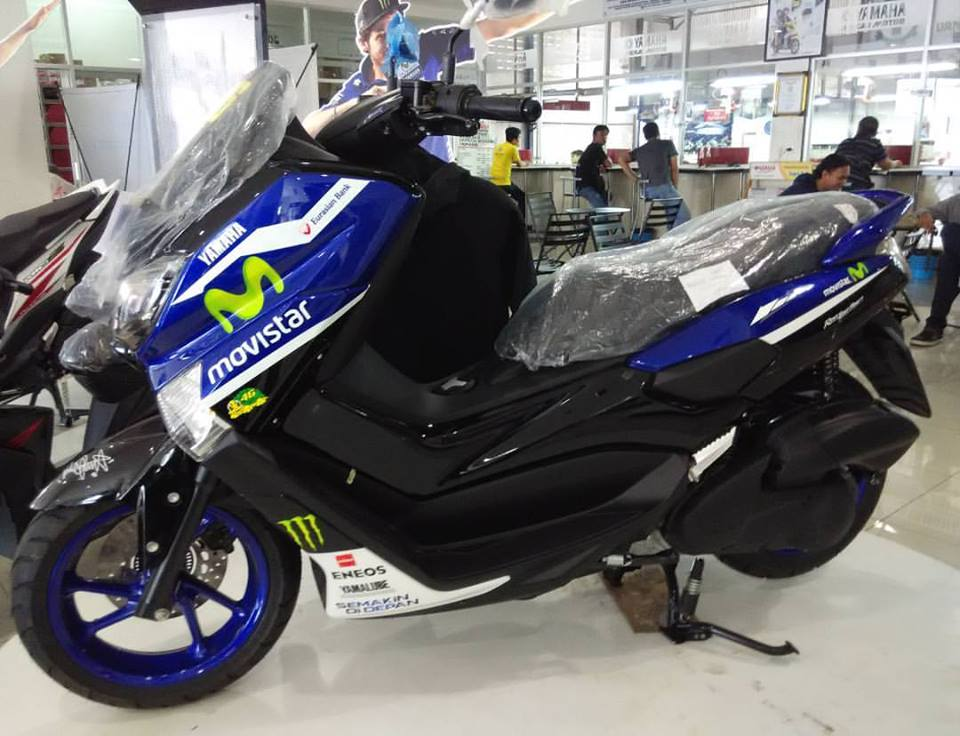 Yamaha N Max Livery Movistar Yamaha Moto GP, Keren!!!! | Rubber Cookie