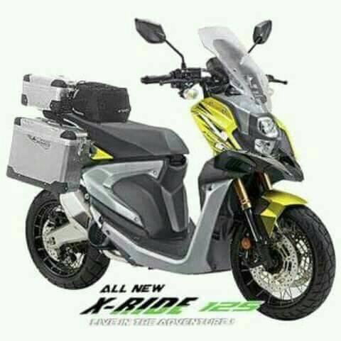 Inspirasi Modifikasi All New Yamaha X Ride 125 Rubber Cookie