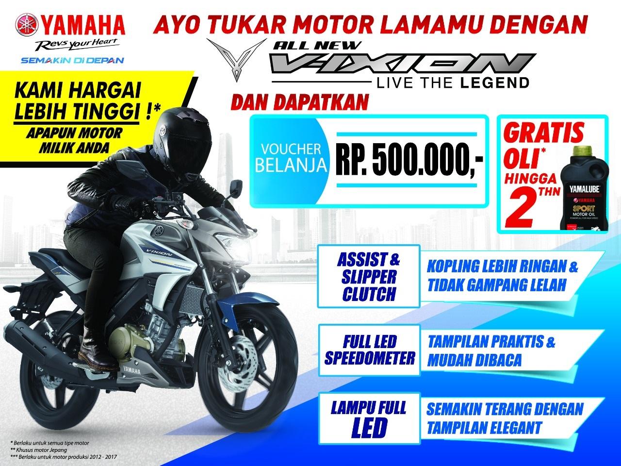 Datang Ke Yamaha Sunday Race 2017 Seri 2 Bisa Tukar Sepeda Motor Speedometer Vixion Old Lama Caranya Adalah Rekan Kedua Ini Dan Langsung Tukarkan Dengan All New