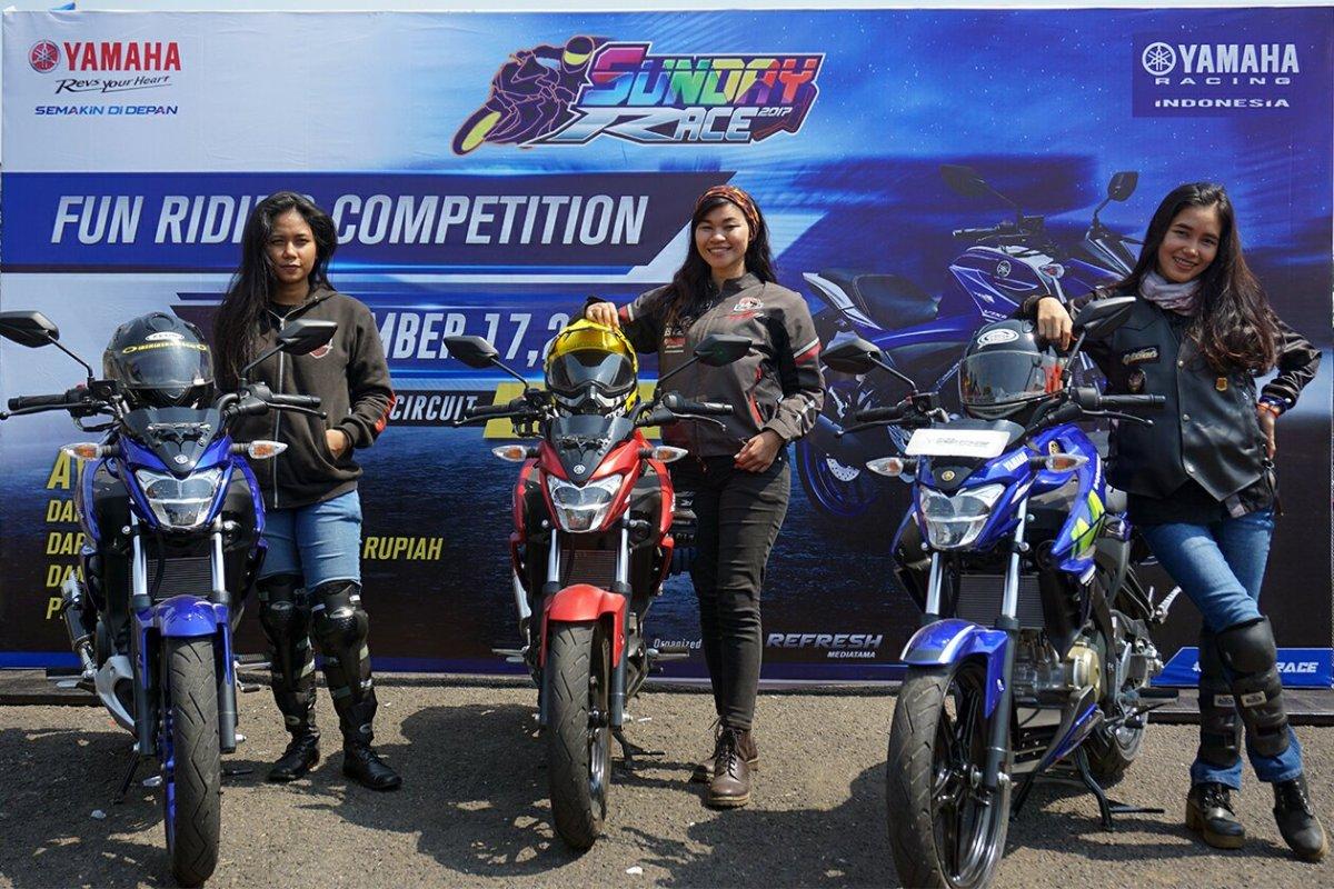 Beruntungnya Yang Ikutan All Vixion Victory Day, Ada Lady Biker Kece !!!