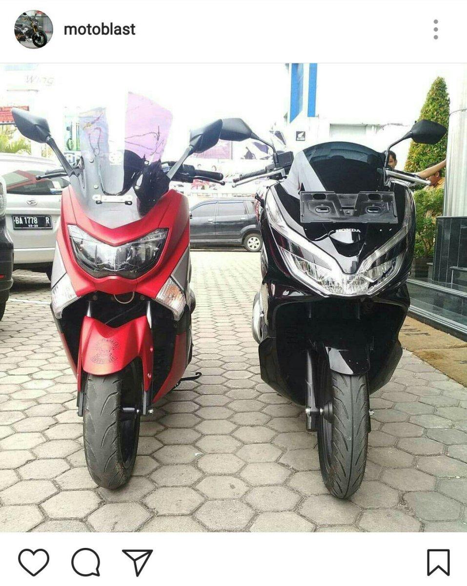 Ini Penampakan MAXI Yamaha Ketika Bersanding Dengan All New Honda PCX, Keren Gak ???