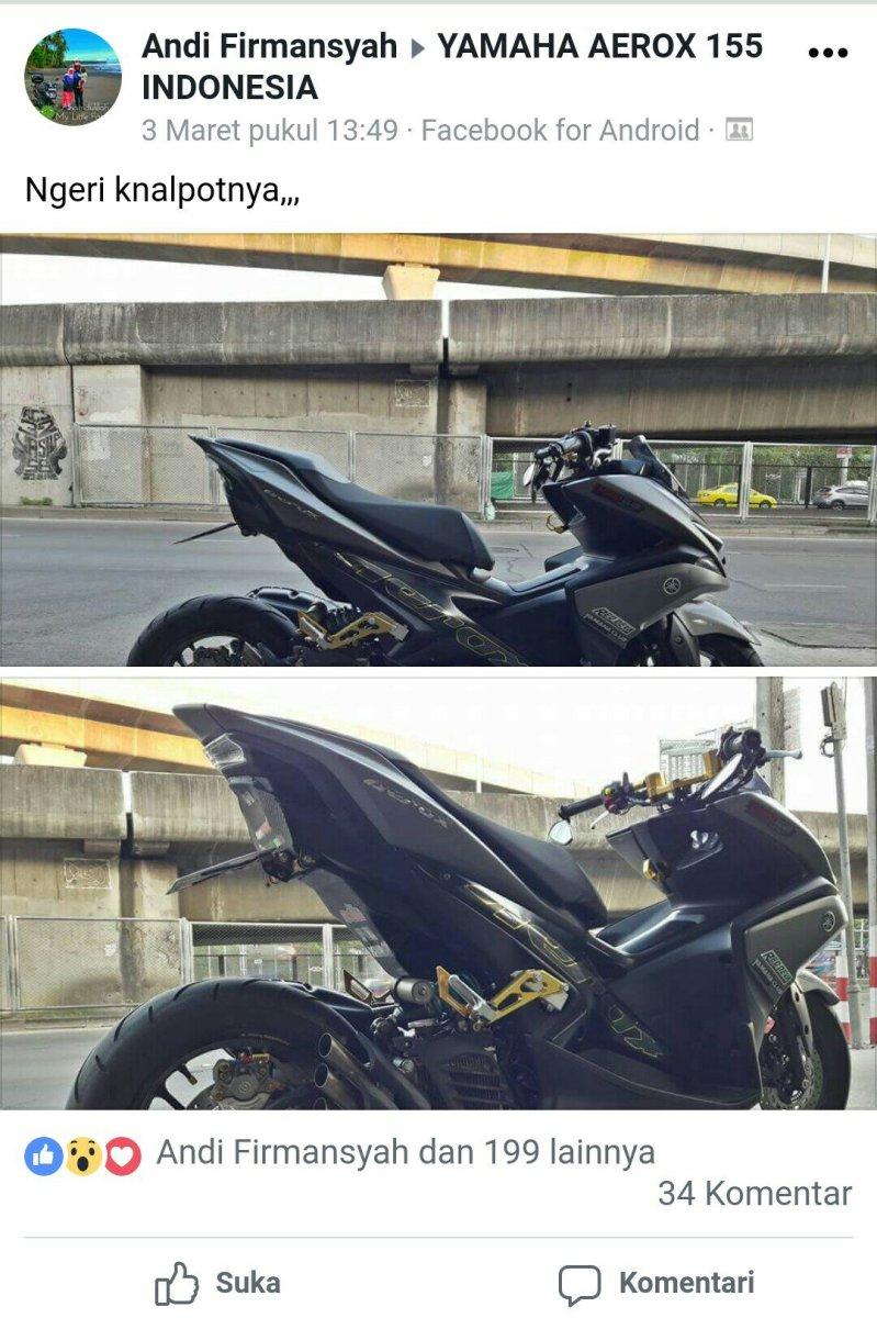 Keren, Yamaha Aerox 155 Ini Bergaya Seperti MV Agusta F3 !!!