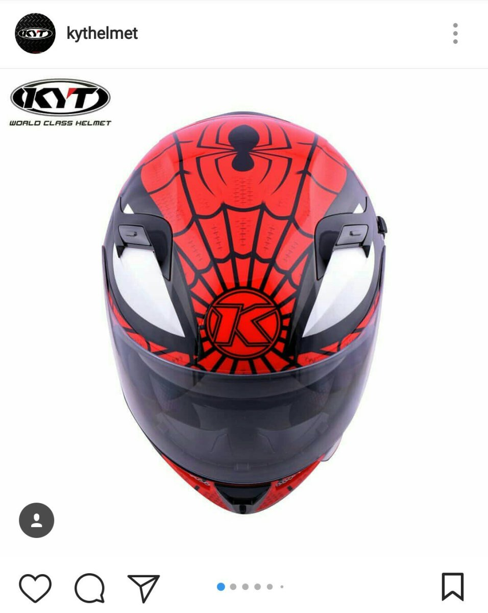 KYT Luncurkan Helm Bergrafis Spiderman, Tersedia Dalam 2 Warna !!!