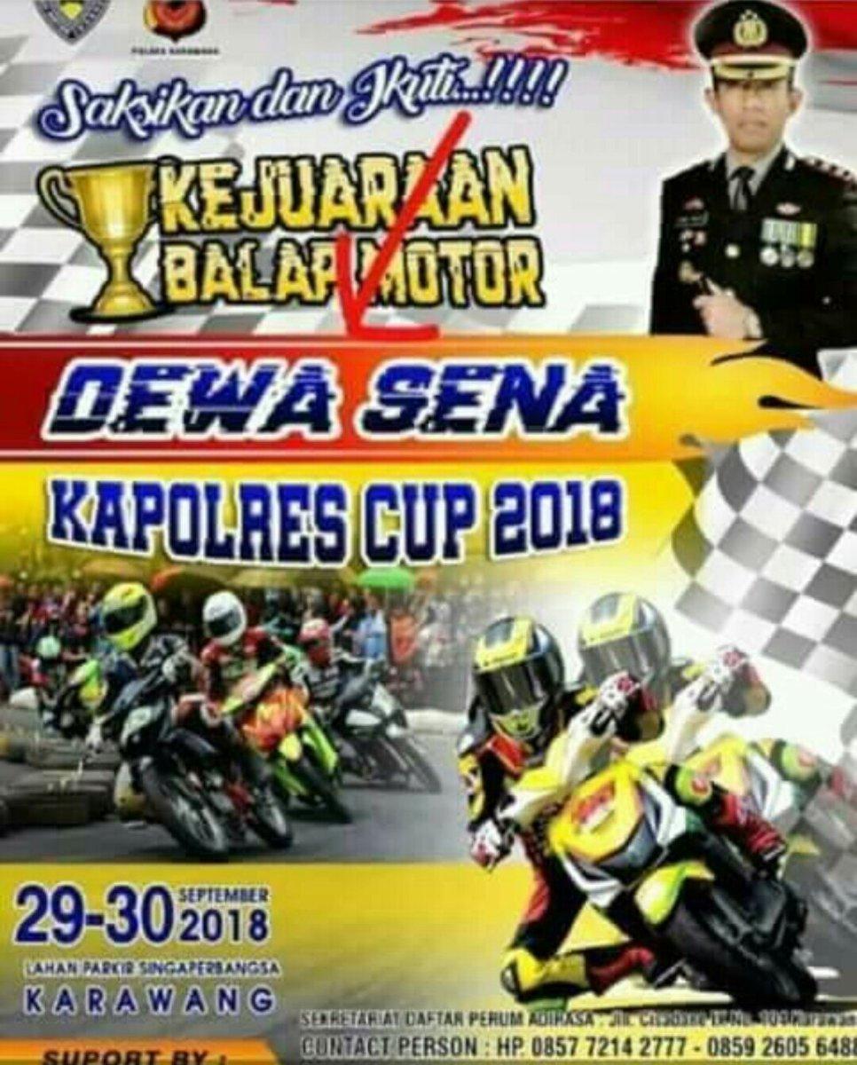 Kejuaraan Balap Motor Dewa Sena Kapolres Cup 2018 Karawang, Ini Lokasi Dan Jadwalnya